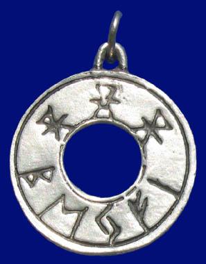 keltisches Kelten-Amulett LIEBESRUNE (Drachenamulett)